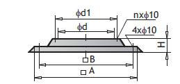 Крышное основание PWDt из стеклопластика-полиэстра