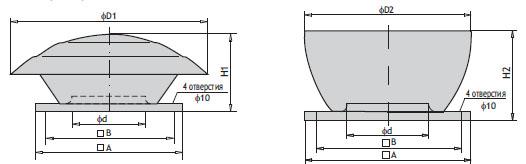 Крышные вентиляторы WDJ/WDJV. Основные параметры