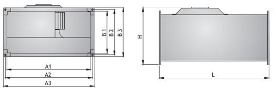 Kанальные вентиляторы прямоугольного сечения WKp.Технические данные