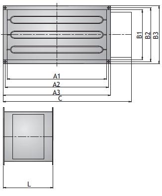 Канальный электронагреватель NEK