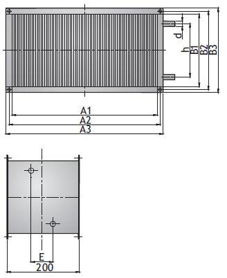 Канальный водяной воздухонагреватель NWK