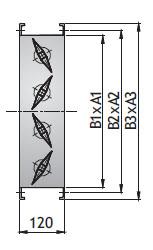 Канальная воздушная заслонка PK